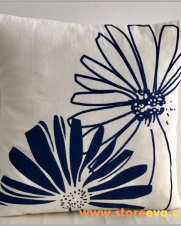 Floral Tropical Autumn Decorative Cushion Cover Fall Season Natural Cotton 16×16