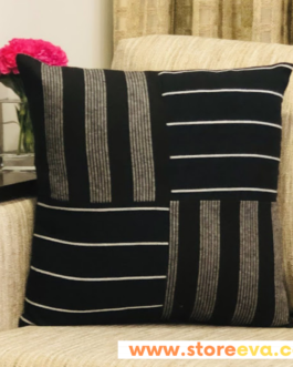 Cotton Cushion Cover With Nautical Stripes Large