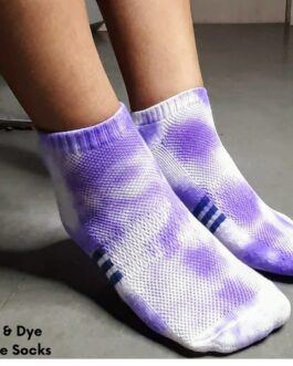 Tie & Dye Ankle Socks Sky Lavender