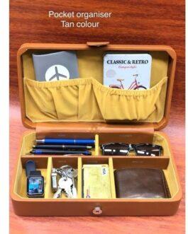 Vegan Leather Pocket Storage Organizer  ( Tan )