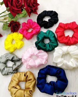 Beautiful Satin Scrunchies Set of 10