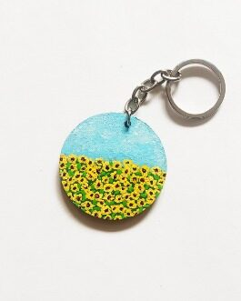 Handpainted keychain ( Valley of Flowers )