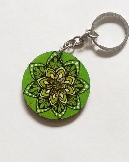 Handpainted keychain ( Mandala )