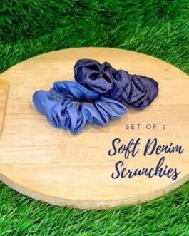 Set of 2 Denim Scrunchies